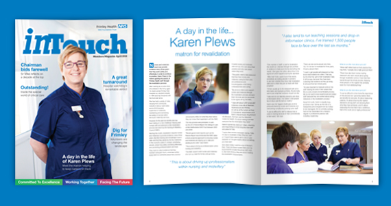 We are proud to be an approved supplier to the NHS. Our latest project is the new look design and print of this Frimley Park NHS Foundation Trust Newsletter. Reaching nearly 15,000 public members this quarterly 16 page magazine focuses on patient care, fundraising and staffing at Frimley Park Hospital.