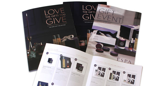 High-end beauty gifts is something that ESPA excel in. We recently printed their latest promotional collateral. Highlighting their wide range of luxury gift sets with these booklets, folders, posters and invitations.