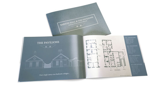 We recently printed A4 landscape brochures promoting the conversion of an 1885 work house into apartments and pavilions in Fordingbridge on behalf of Landmark Estates.