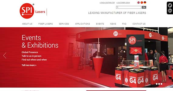 We designed and built the new look SPI Lasers website in WordPress CMS, allowing SPI to update all content themselves.